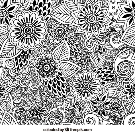 floral pattern hand drawing hand drawn floral pattern vector free download