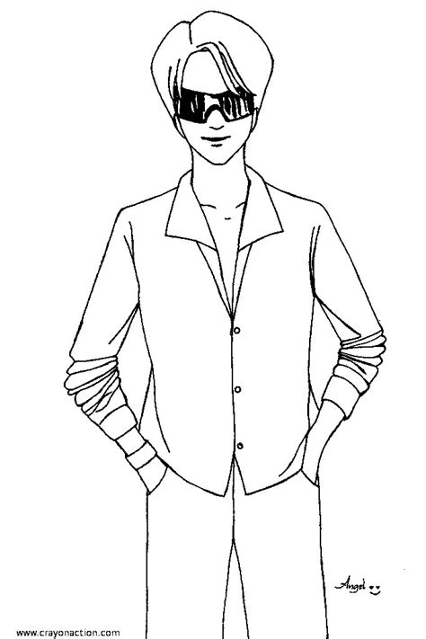 free coloring pages of top model templates
