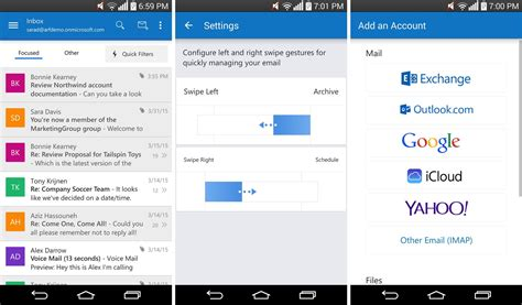 outlook pour android sort officiellement de version