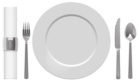 Plate Spoon Table Knife Fork and Napkin PNG Clipart   Best