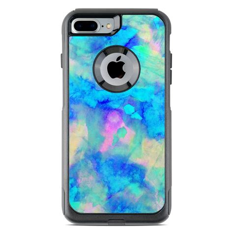 electrify ice blue otterbox commuter iphone   case skin istyles