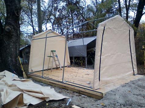 car shelter with floor shelterlogic autoshelter 1015 portable garage with