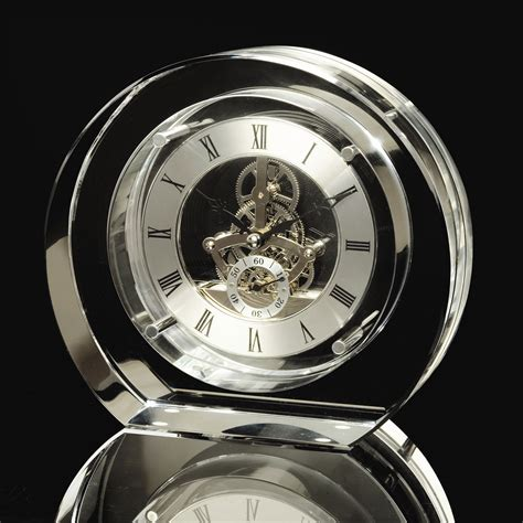 Stylish House London Clock Round K9 Crystal Mantle Review Compare