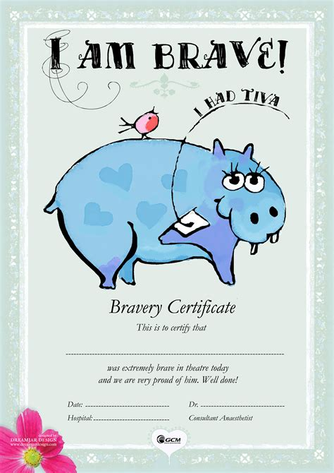 tci with children bravery certificates html