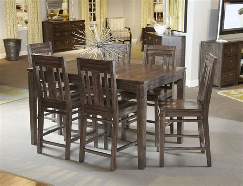 kincaid montreat tall dining table set in graphite by solid wood counter height dining table by kincaid