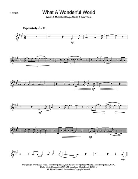 louis armstrong what a wonderful world testo what a wonderful world sheet by louis armstrong