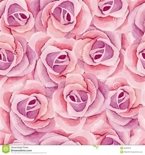 watercolor roses pattern watercolor pattern stock photo image 35503510