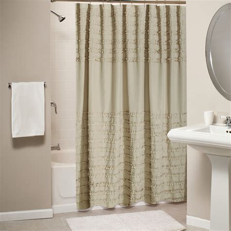 greenland home fashions curtains greenland home fashions ruffled linen shower curtain gl