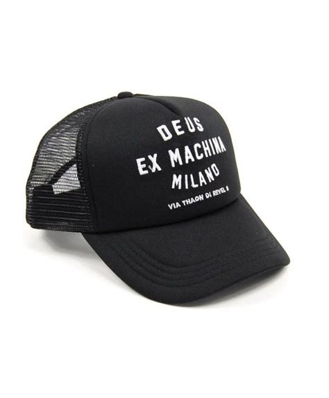 Topi Baseball Deus Ex Machina G60 deus trucker cap address trucker black deus ex
