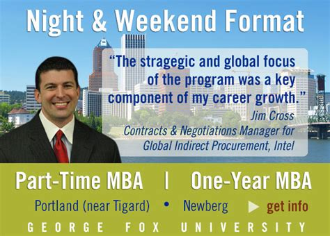 Part Time Mba Portland by Master Of Business Administration Cus Locations In