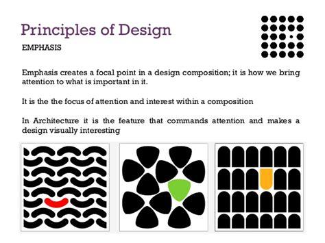 design definition of emphasis principles of design