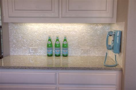 white pearl backsplash white of pearl minibrick tile for backsplash and