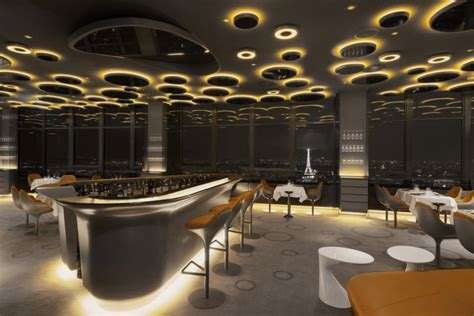 elegant luxury restaurant interior amber bubble light ciel de paris restaurant great inspiration building design