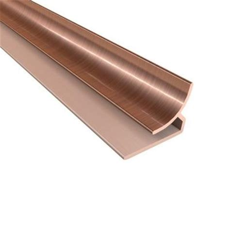 fasade 18 in inside corner trim in polished copper 926 25