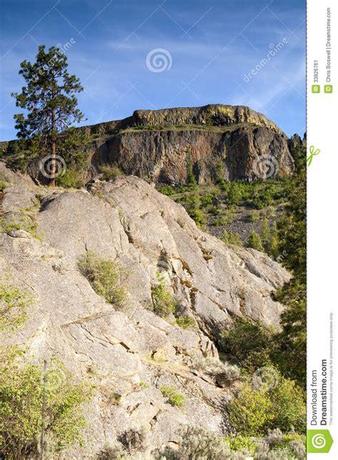 Landscape Rock Nearby Rocky Ridge Outcroppings Near Banks Lake Washington State