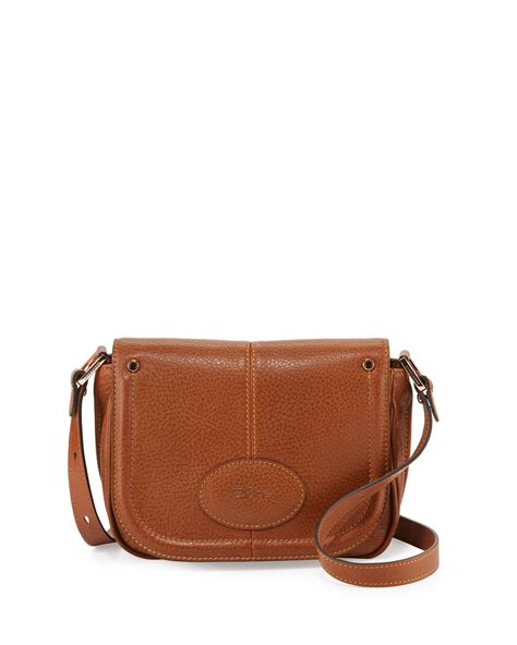 longch mystery small leather crossbody bag in brown lyst