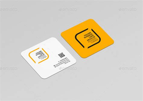 21 Square Business Card Mockups Free Premium Designyep Square Business Card Template Free