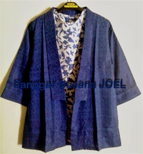 Blazer Batik Semi Blazer Batik Embos Biru Variasi Inner Batik