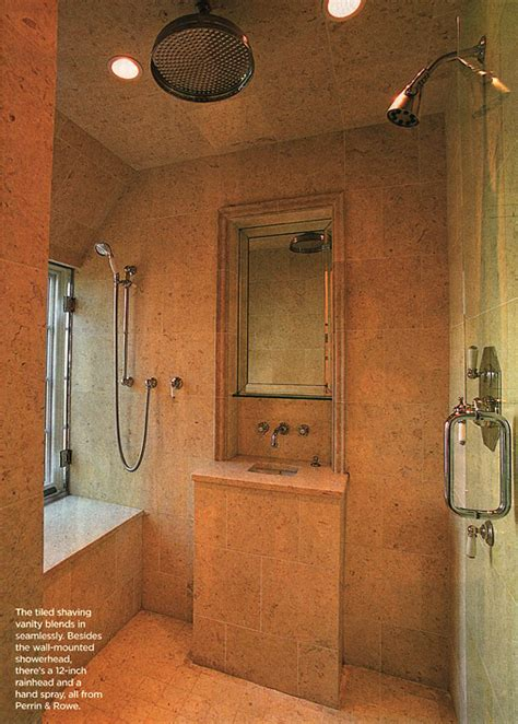 Vanities Spa Ky by Our Master Bathroom Spa Shower Plans The Log Home Guide