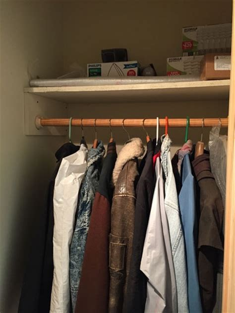 Coat Closet Shelving Construction Organization Solutions An Eclectic Mind