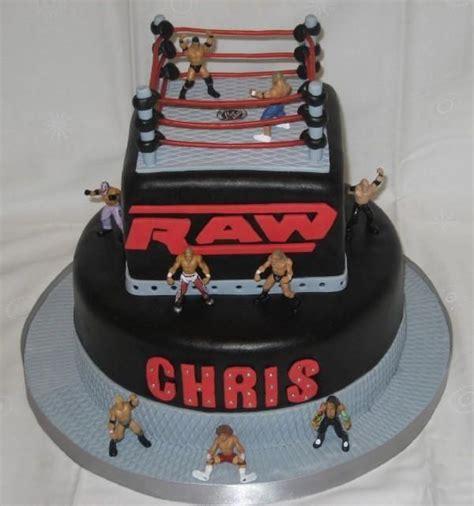 wwe raw birthday cake    cake    boy    wwe fanantic red
