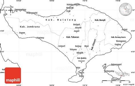 printable road map of bali blank simple map of bali