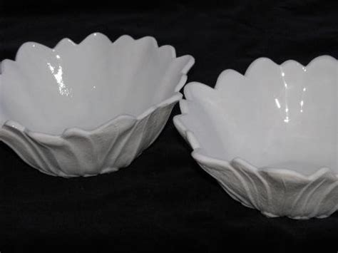 flower pattern milk glass milk glass flower pattern bowls