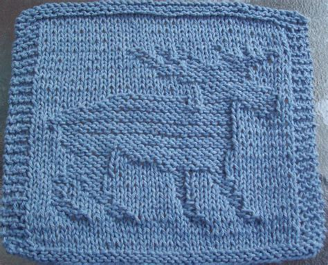 Attractive Free Knitting Patterns For Christmas Dishcloths #2: Moose.jpg