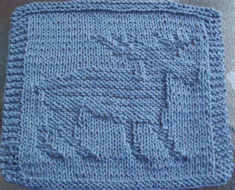 knitting dishcloth patterns digknitty designs moose knit dishcloth pattern