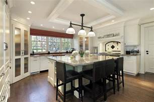 big kitchen island white kitchen with large square white island and dark stools