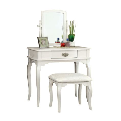 white vanity table and stool furniture of america vanity table and stool in