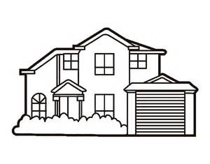 Mansion Coloring Pages Detached House Page sketch template