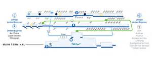 Washington Dulles Map by Washington Dulles Int L Iad Airport Map United Airlines