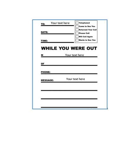message template 40 voicemail greetings phone message templates business