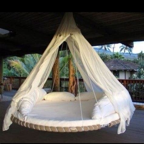 how to hang a swing bed hanging bed swing trolines pinterest