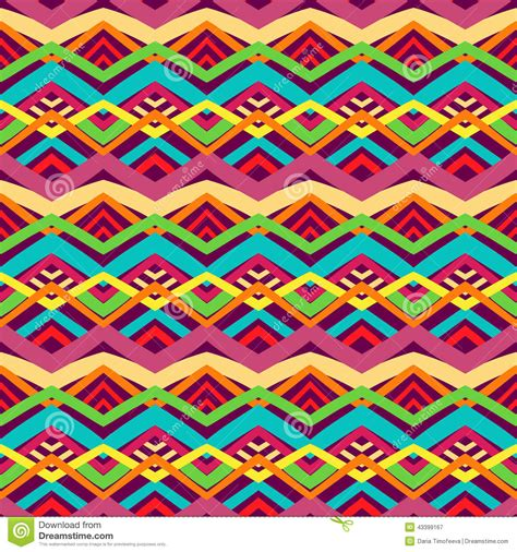 tribal pattern colorful colorful tribal pattern stock vector image 43399167
