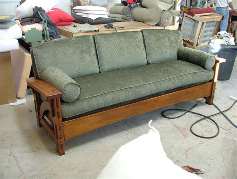 mission style sofa leather craftsman mission style