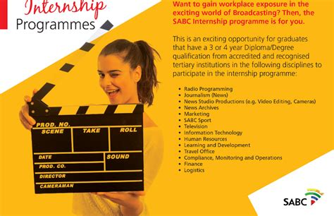 Mba Internships South Africa by South Africa Broadcasting Corporation Sabc Internship