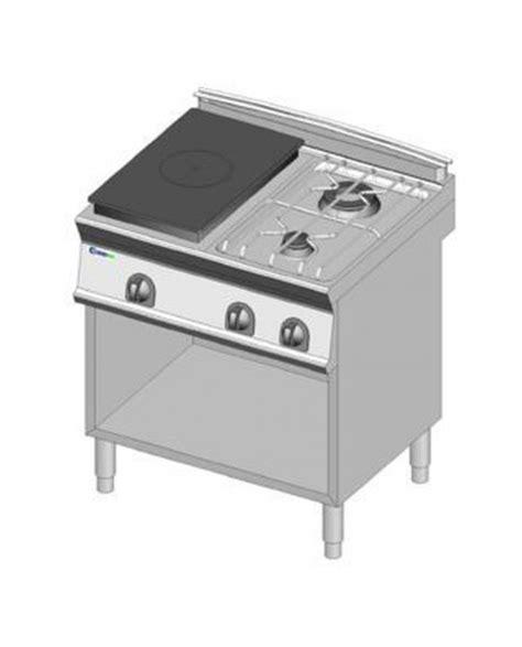 piano cottura con piastra piano cottura gas 4 fuochi con piastra riscaldante su vano