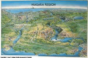 niagara falls canada map images