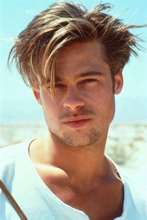 guys hairstyles in the 90s just90s brad pitt pinteres
