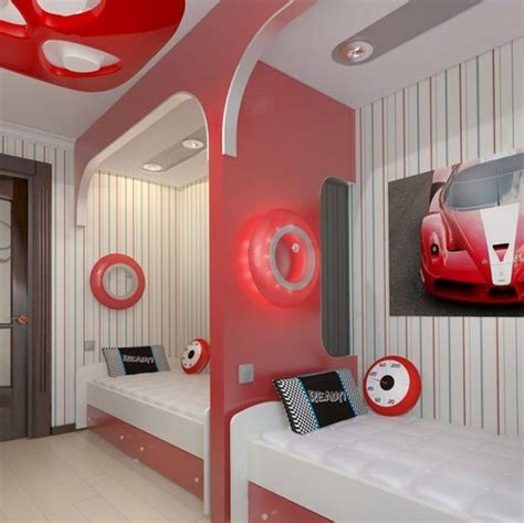 creative teenage boys bedroom design ideas with cool bunk beds 21 cool shared teen boy rooms d 233 cor ideas digsdigs