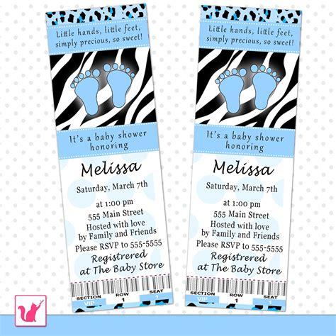 printable zebra baby shower invitations printable personalized blue black zebra leopard print baby