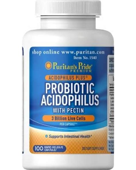 Puritan Pride Detox by Puritans Pride Probiotic Acidophilus With Pectin 100 Caps