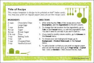 recipe cards for word free download and software reviews