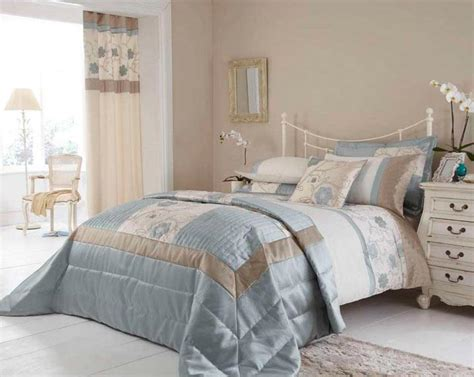 blue and beige bedding duck egg blue beige cream floral faux silk satin