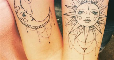 tattoo photo filter two nice bicep tattoos of the sun and the moon