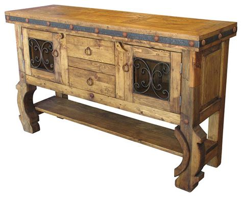 Repainted Kitchen Cabinets rustic buffet table modern rustic sideboard mexican