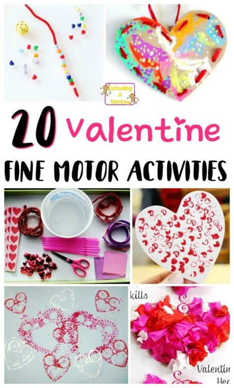valentines activities for children adorable and sweet s day motor activities