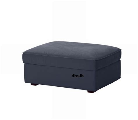 slip covers for ottomans ikea kivik footstool slipcover ottoman cover ingebo dark blue